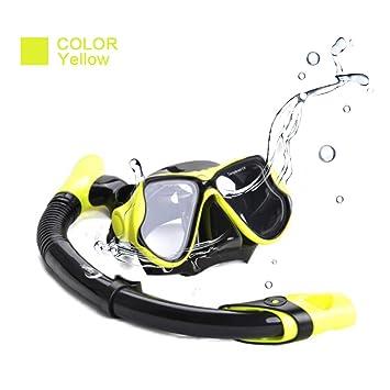 UMsky Kit Mascara de snorkel Gafas de Buceo con Tubo para Adultos Actividad Subacuática (yellow
