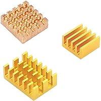 for Raspberry Pi 4 Model B Heat Sink 3pcs Raspberry Pi 4B Copper Cooling Pad Heatsink Radiator Cooling Kit Cooler - Yellow