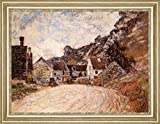 "The Hamlet of Chantemesie at the Foot of the Rock by Claude Monet - 20"" x 27"" Framed Premium Canvas Print"