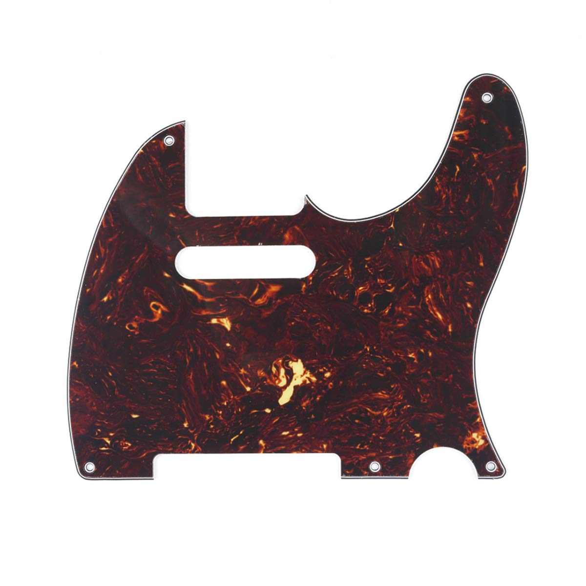 Musiclily 5 Hole Vintage Telecaster Pickguard Electric Guitar Scratch Plate for USA/Mexican Made Fender Standard Tele Style, 3Ply Mint Green MX1410MT