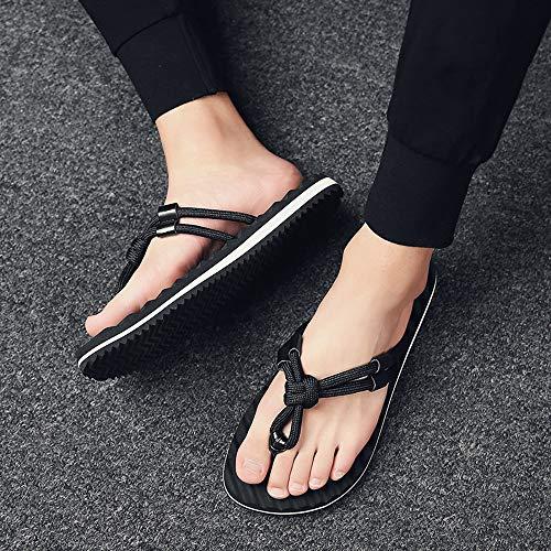 Los Negro Sandalias Sandalia De Playa Coser Zapatos Hombres Hombre Alikeeysandalias Planos Verano 6Pt7Sq