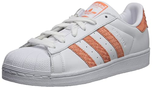 estrés cambiar Expulsar a  Buy Adidas ORIGINALS Women's Superstar W, White/Chalk Coral/Legacy, 8 M US  8 White/Chalk Coral/Legacy at Amazon.in