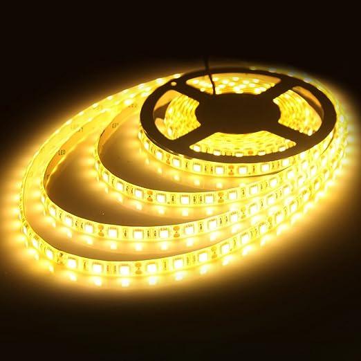 JOYLIT Striscia LED Bianco caldo 3000-3500K SMD5050 300led IP65 ...