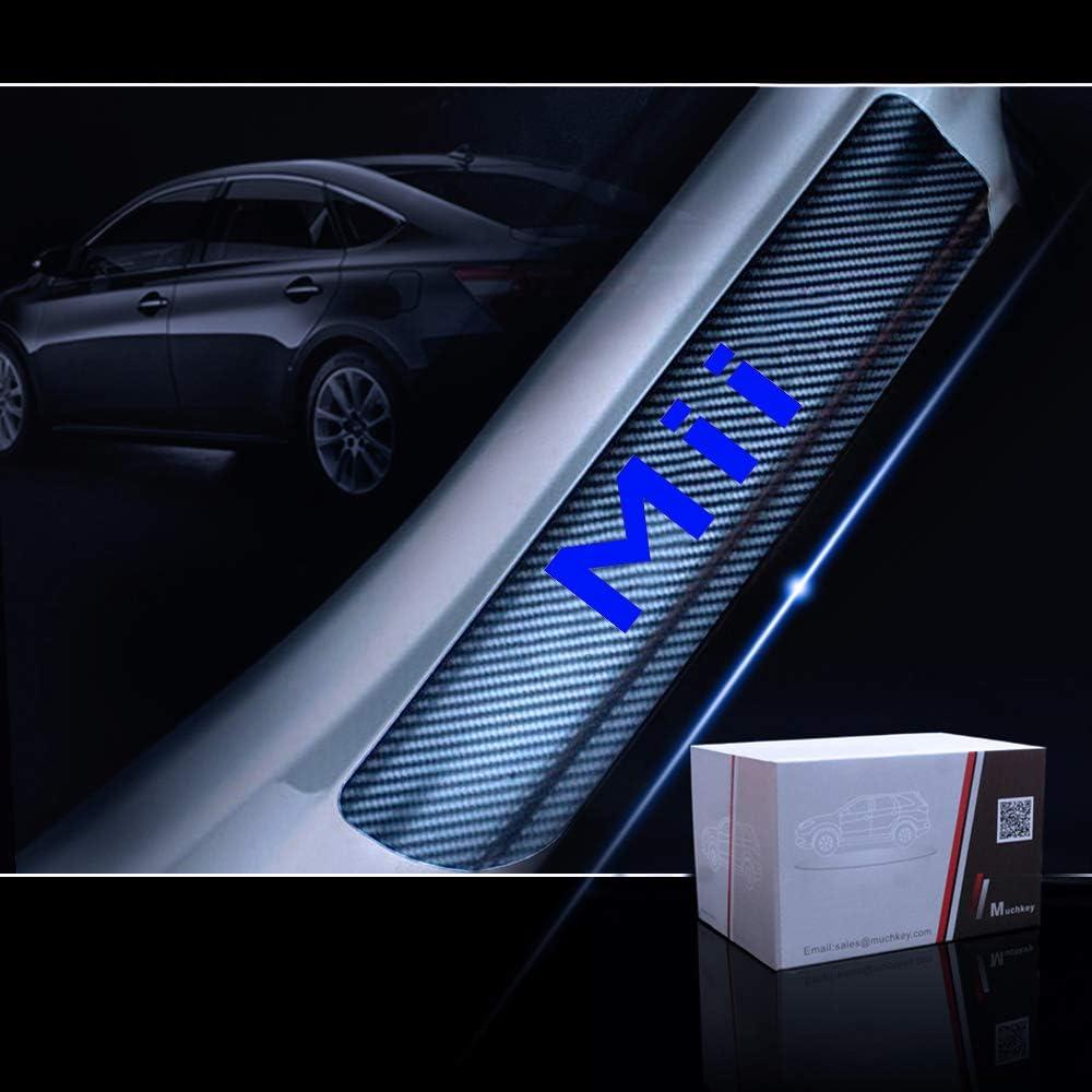 Gemmry 4PCS Umbral De La Puerta Protectores para Seat MII Fibra De Carbono Protecci/ón de Pedal Adhesiva Pegatinas Anti-rasgu/ños Decoraci/ón Accesorios de Dise/ño