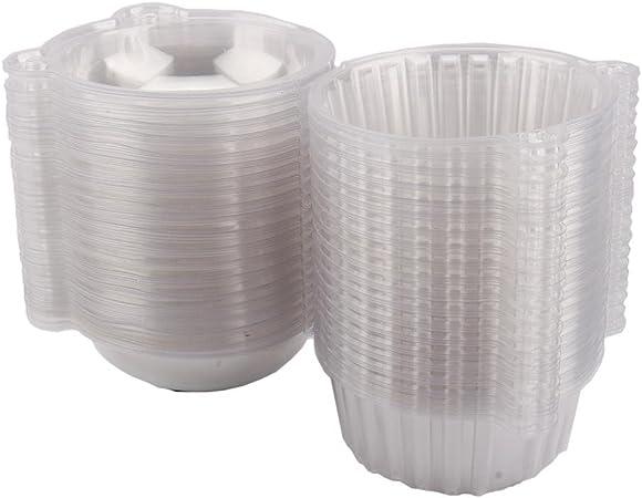 100 Large cupcake box 112 mm x 80 mm Singel plastica trasparente per muffin pod Dome case pirottino per la cucina