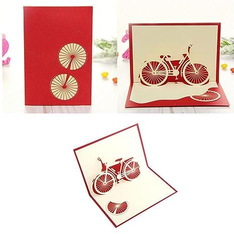 Kimruida Bicicletta Viaggio 3d Pop Up Di Buon Compleanno San