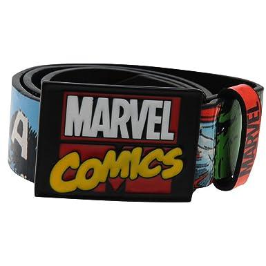 Marvel Comics Junior Ceinture Superhero licence Imprimé pour enfant Hulk  Spiderman Captain America Boucle en métal 7877005de55