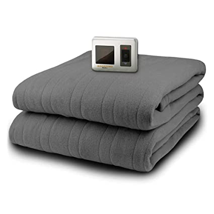 MicroPlush Electric Blanket with Controller, Gray, Twin best twin electric blanket