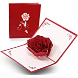Handmade 3D Mothers Day Card from Daughter, Valentines Day Pop Up Card With Envelopes For Significant, Thanksgiving Cards, Gr