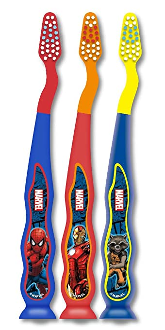 Firefly Marvel Kids Soft Toothbrushes, 3 Count (Pack of 6)