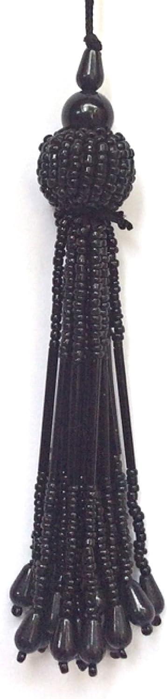 Black, 4 inch 1 Pair Tassels Indian Handmade Latkans Golden Tassels Long Tassels Blouse Sari Latkan