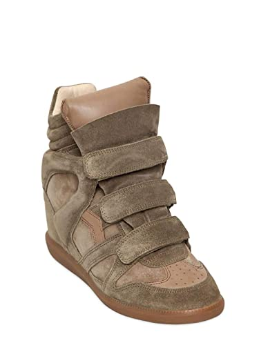 53511477cbd3 Amazon.com   Isabel Marant Etoile 80mm Bekett Wedge Taupe Authentic $590  Sneakers Size 35 New   Fashion Sneakers