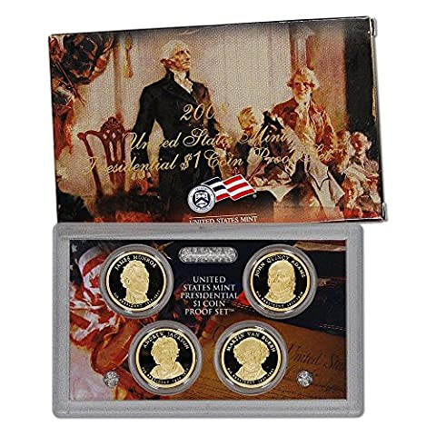 2008 S Presidential Dollar 4-coin Set in OGP with COA $1 Proof US Mint - Dollar Coin