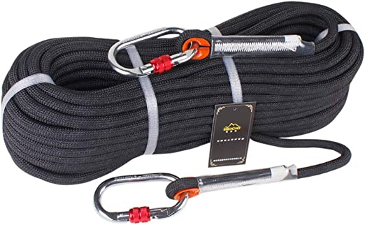 Climbing Rope Outdoor Emergency Rope 10M//20M//30M//50M Wear Resistant 9Mm Diameter High Strength Hiking Accessory Tool