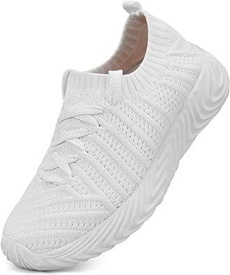 QANSI Girls Tennis Gym Shoes White Slip