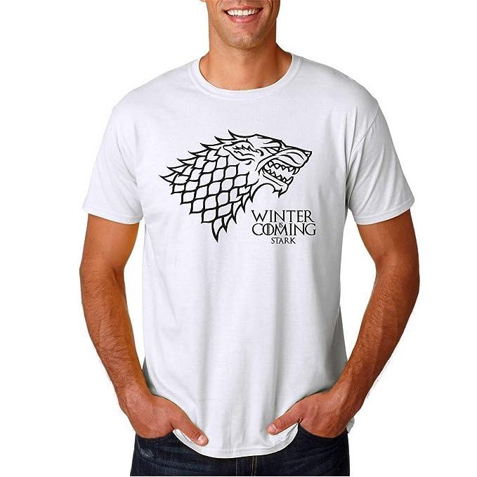 Winter is Coming Stark House Juego de Tronos - Camiseta Manga Corta  Amazon. es  Ropa y accesorios c858a2b6eb6