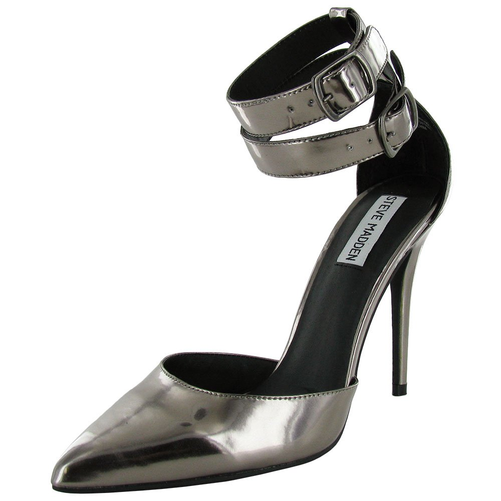 Steve Madden damen Dnceaway Strappy Pump schuhe Pewter Leather US 8