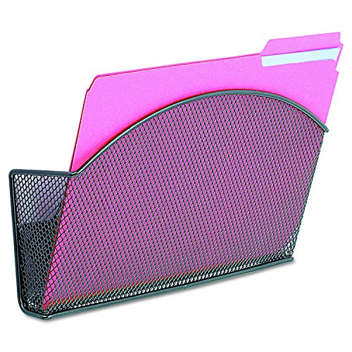 Safco Products 4176BL Onyx Mesh Magnetic Single File Pocket, Letter Size, Black (Mesh Safco Onyx)