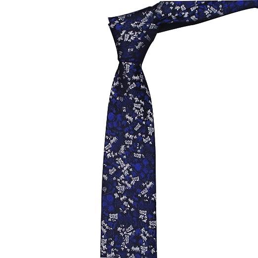 GuanBen Lazo de Seda Hombres 6CM Lazo Azul de la Camisa del Traje ...