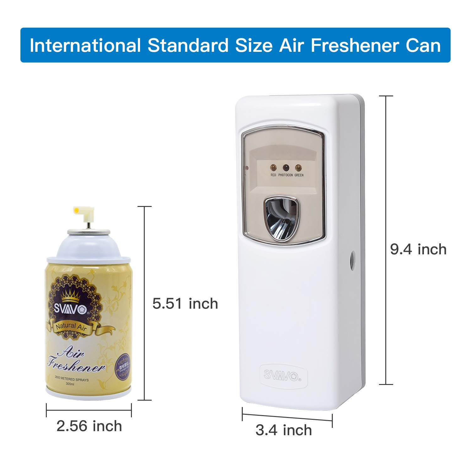 SVAVO Automatic Air Freshener Dispenser - Wall Mounted/Free Standing Auto Aerosol Spray Dispenser Programmable Fragrance Dispenser for Indoor-Bedroom, Hotel, Office, Commercial Place, White by SVAVO (Image #6)