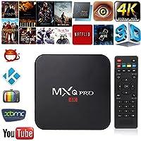 MXQ Pro 4K 3D 64Bit Quad Android 7.1 Core Smart TV Box 1080P WIFI 1+8G