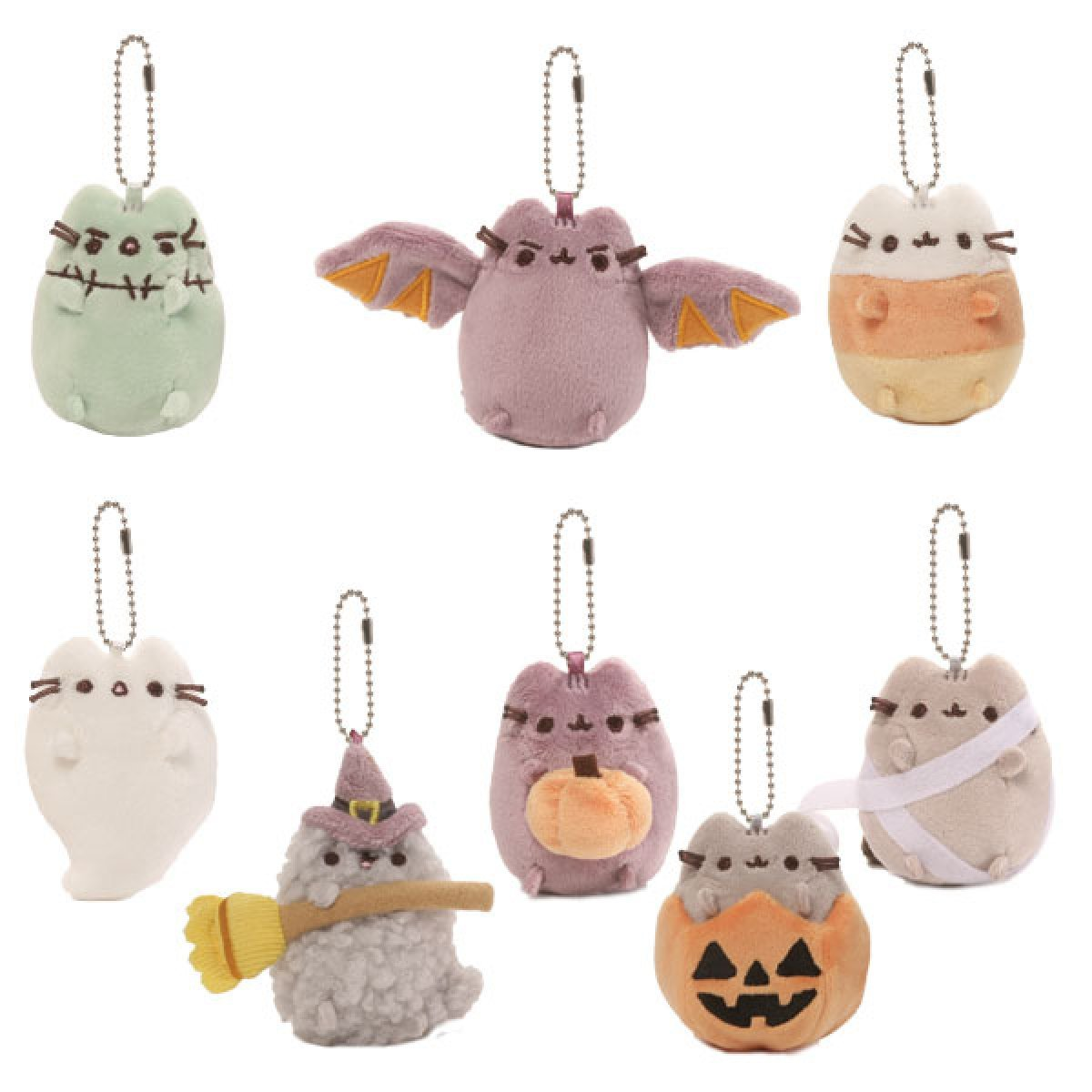 3'' Plush Pusheen Halloween Key Chain Blind Box Series