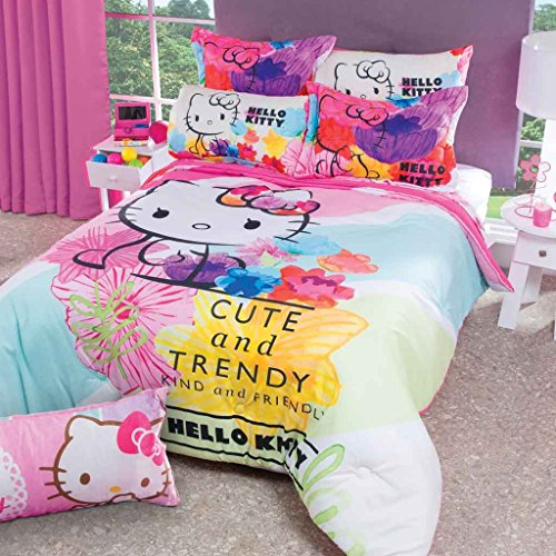 Hello Kitty Comforter Bedding Set Kids Girls Trendy Gift FULL - 3 Pieces by DPW
