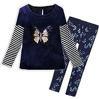 VIKITA Toddler Flower Girl Dress Cotton Long Sleeve Navy Baby Girls Winter Dresses for 2-8 Years