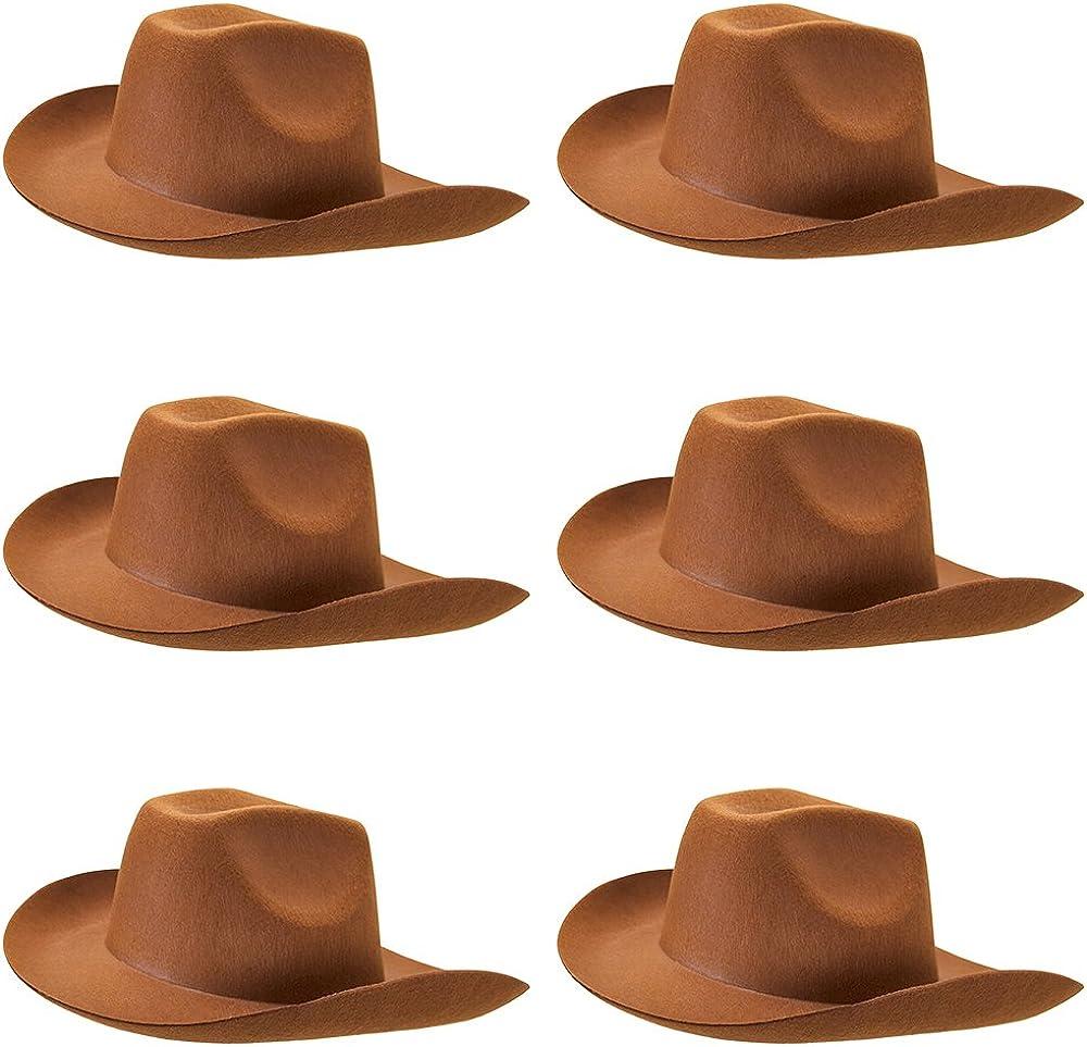 Texas Cowboy Brown Mens Ladies Western Fancy Dress Cowboys Hat With Teeth New