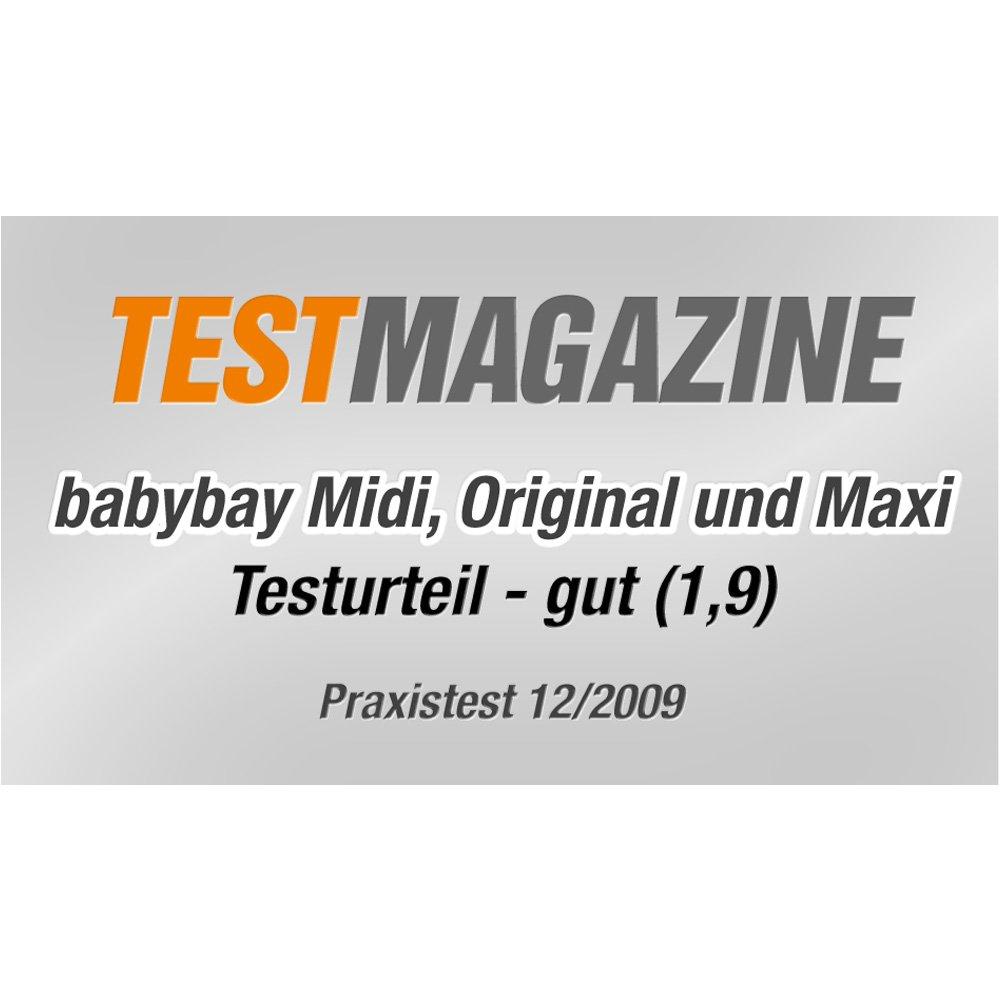 Grey//White Varnished One Size Babybay Maxi bedside sleeper Cot Multi Color