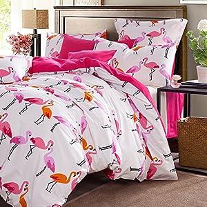 Fadfay Home Textile Modern Flamingo Bedding Sets Cute Bird