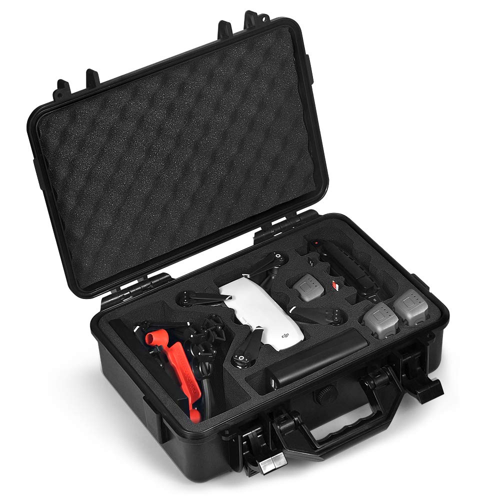 Lekufee Carrying Case Compatible for DJI Spark, Waterproof Hard Portable Case Holds 4 Batteries and DJI Spark Fly More Kits by Lekufee (Image #1)