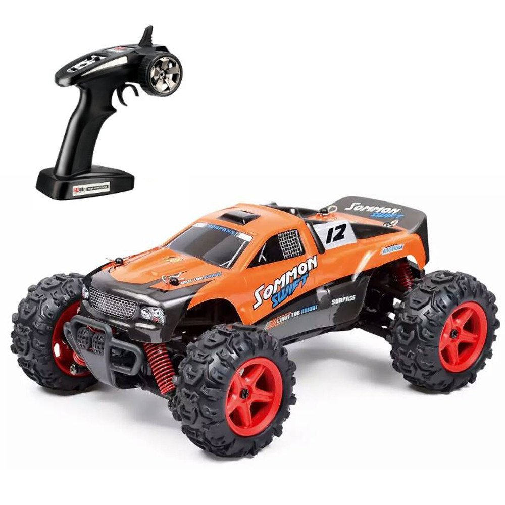 Choosebuy High Speed RC Car, SUBOTECH 25MPH 40km/h 1:24 Scale Off Road Car (Orange)