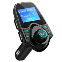 FM Transmitter, VicTsing Car MP3 Player Handsfree Car Kit with Dual USB Charging Ports, 1.44 Inch LCD Display, 3.5mm Audio Port, TF Card Slot, USB Flash Drive Port For iPhone, iPad, iPod, HTC- Black