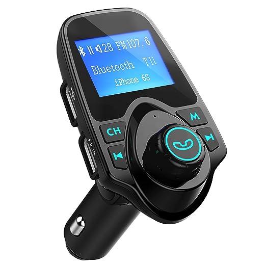 261 opinioni per Trasmettitore FM Bluetooth Nero per Auto Radio, VicTsing Trasmettitore con