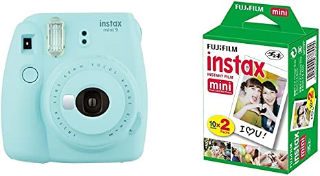 Fujifilm Instax Mini 9 - Cámara instantánea, Cámara con 2x10 películas, Azul: Amazon.es: Electrónica
