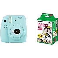 Fujifilm Instax Mini 9 - Cámara instantánea, Cámara con 2x10 películas, Azul
