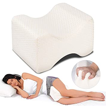 Almohadas para piernas para dormir, Dioxide Cojín ortopédico para almohada con de memoria, Alivia el Dolor de Espalda, Cadera y Articulaciones, ...
