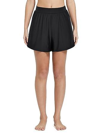 f4b5b7cb080dc Rocorose Damen Einfarbig A-linien Bikini Hose mit Slip Schwarz EU 50W