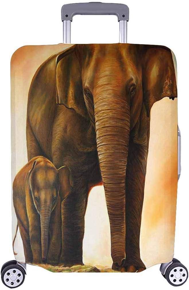 Una Familia de Elefantes, viajeros de Viaje, Equipaje de Viaje de elección con Ruedas giratorias, Maleta de Equipaje de 24 Pulgadas