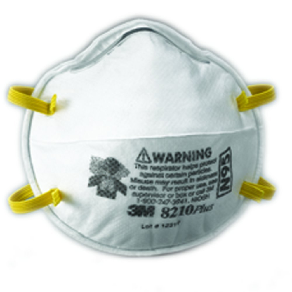 3M Particulate Respirator 8210Plus, N95 (Pack of 160)