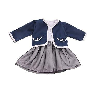 Homyl Elegante Puppen Kleidung Jacke + Kleid Anzug Für 18