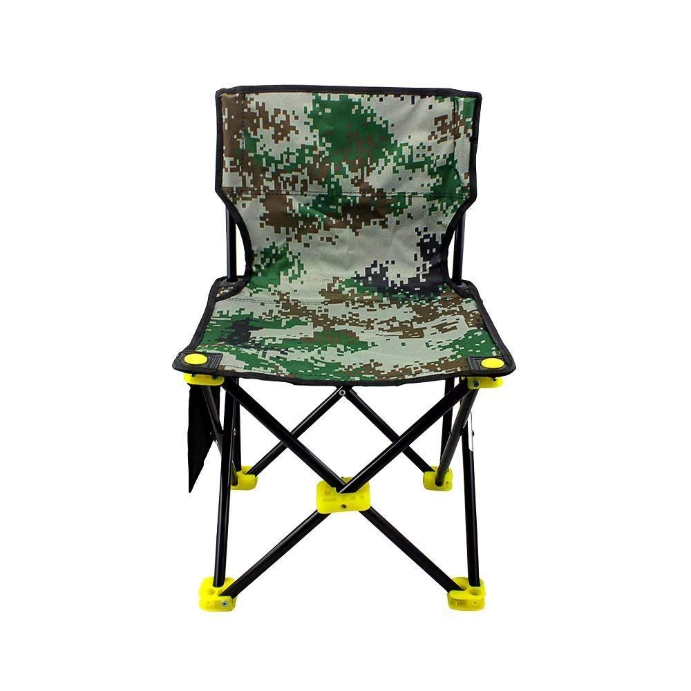 BeGrit Portable Camping Chair Folding Fishing Quad Chair Backrest Camp Stool with Carry Bag for Outdoor Hiking Picnic Backpacking Beach