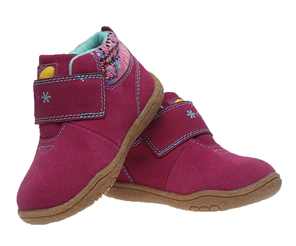 Toddler//Little Kid iDuoDuo Kids Cute Snowflake Fashion Boots Children Hiking Boots Warm Winter Boots