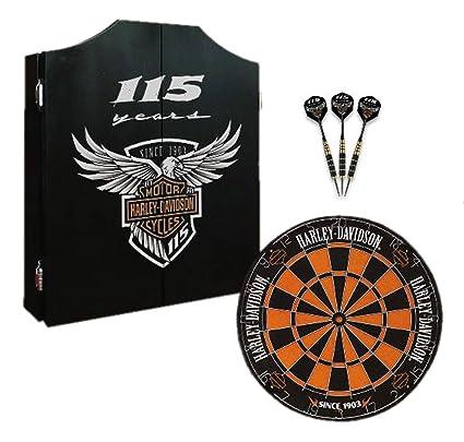 Etonnant Harley Davidson 115th Anniversary Dart Board Kit Limited Edition, Black  69115