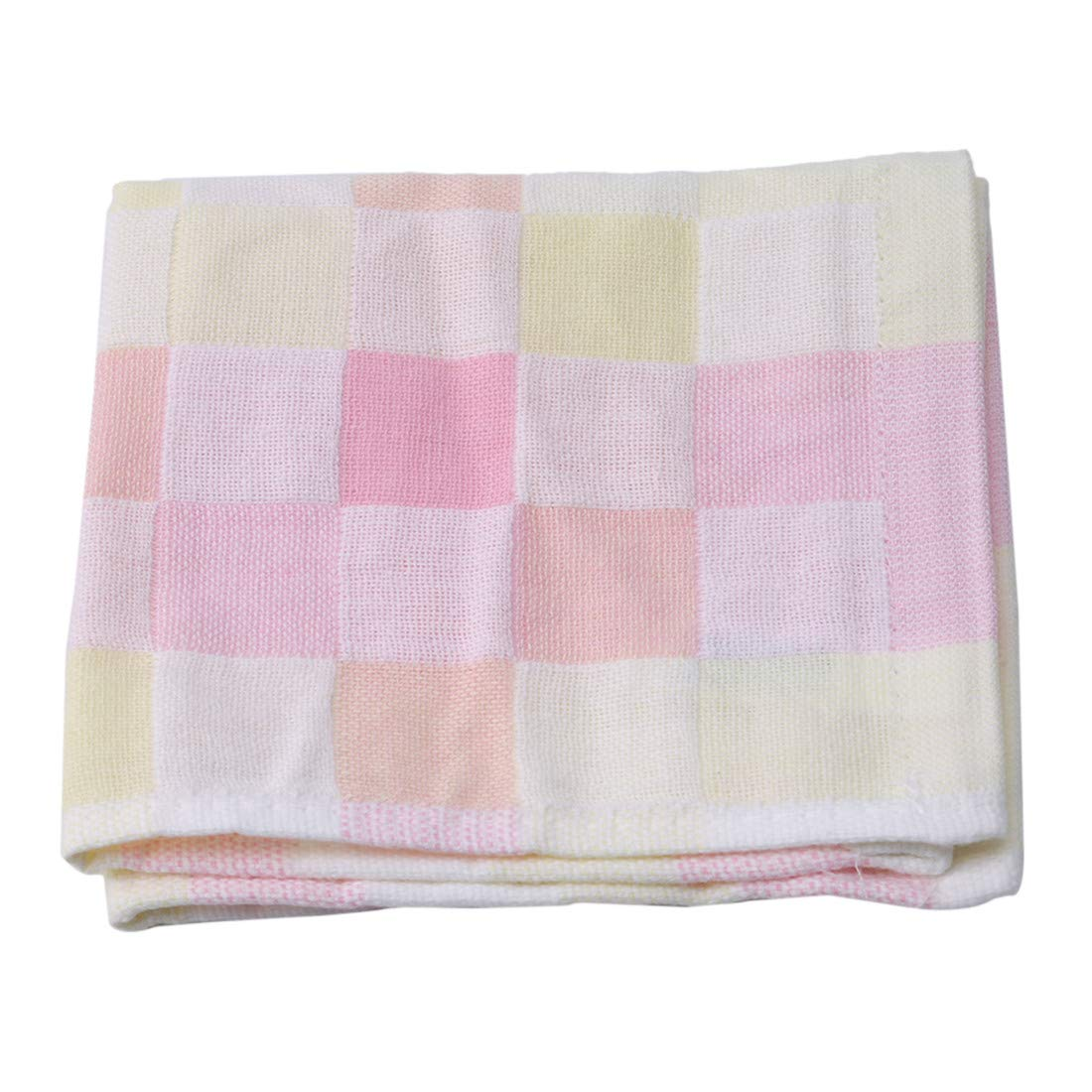 UINKE Square Washcloths Towel Kitchen Dish Cotton Cloth, Bath and Face Cleaning, Multi-Purpose Soft Cleaning Rags,Pink
