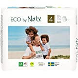 Eco by Naty Premium Pull On Pants for Sensitive Skin, Size 4, 4 Packs of 22 (88 Diaper Pants), 3.9 Kilograms