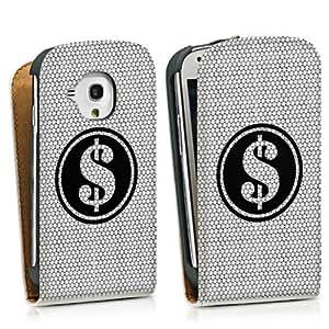 Diseño para Samsung Galaxy S3 Mini I8190 DesignTasche Downflip white - Dollar