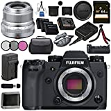 Fujifilm X-H1 Mirrorless Digital Camera (Body Only) 16568731 XF 23mm f/2 R WR Lens (Silver) 16523171 VPB-XH1 Vertical Power Booster Grip Bundle