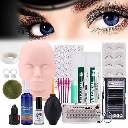 Mysweety Practice Mannequin Head para la extensión de pestañas falsas Kit de práctica de maquillaje Maniquí